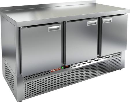 Холодильный стол с нижним расположением агрегата с 3-мя дверями