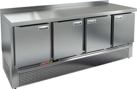 Холодильный стол с нижним расположением агрегата с 4-мя дверями