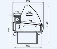 Схема витрины Таир ВХС